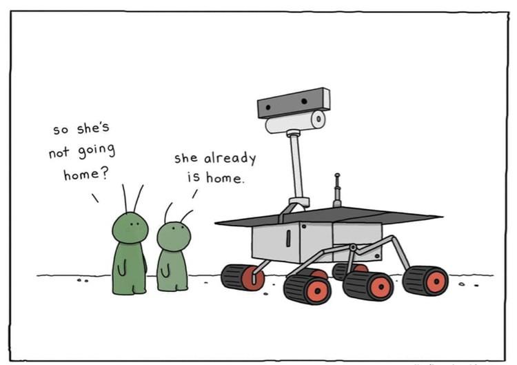 Oppy была очень популярна (Марсиане: Почему она не идет домой? А она дома.)