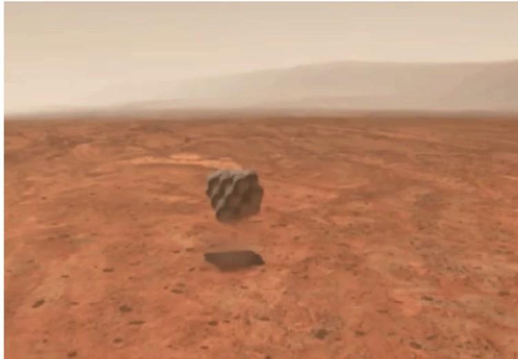 В такой надувной оболочке Opportunity прибыла на Марс.