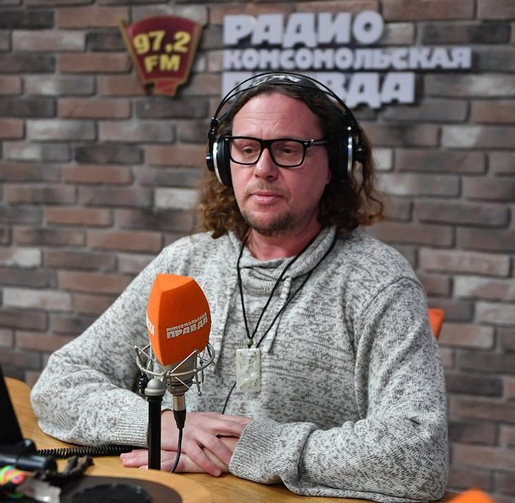 """Сергей Полонский в студии Радио """"Комсомольская правда""""."""
