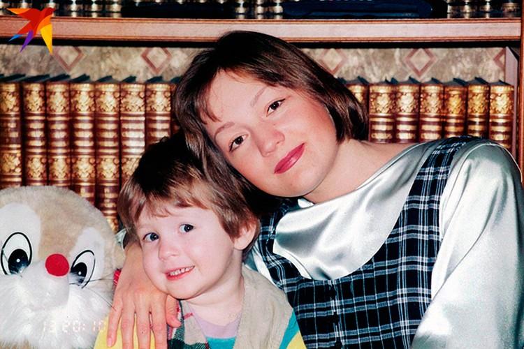 1996 год с сыном Сашей, в перерывах между гастролями.