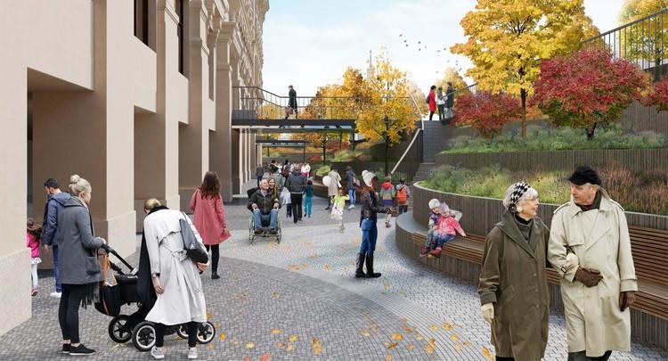Так будет выглядеть музейный парк Политеха меньше, чем через два года. Фото: ДОМ.РФ