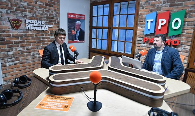 """Министр науки и высшего образования Михаил Котюков в студии радио """"Комсомольская правда"""""""