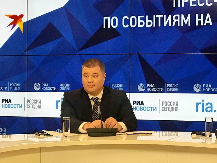 Бывший консультант-эксперт штаба Антитеррористического центра СБУ предстал перед телекамерами в Москве аккурат в День Службы безопасности Украины