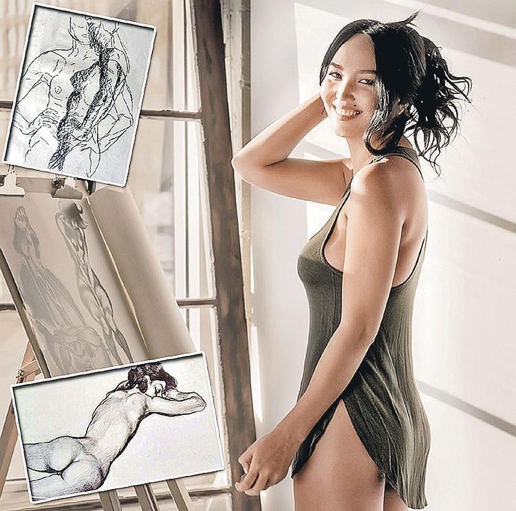 Новая жена известного продюсера Дарина Цекало увлекается рисованием. Фото: facebook.com