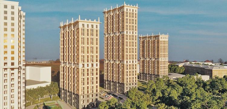 На северо-западе вырастет «Театральный квартал» из четырех жилых башен. Фото: krost.ru