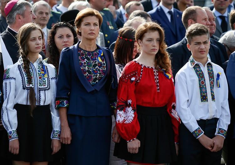 Супруга и дети Петра Порошенко