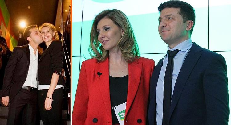 Владимир и Елена Зеленские поженились спустя после восьми лет гражданского брака. Фото Global Look Press + Личная страница в соцсети