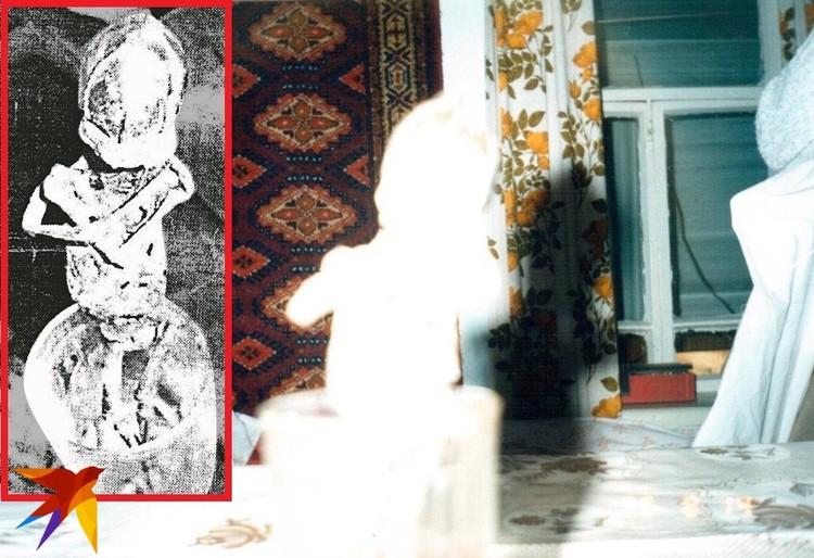Это последние фотографии Алешеньки. Сектанты сделали их в Кыштыме в тот день, когда забрали мумию. Как видите, фотоделу данные товарищи не учились. Фотка со вспышкой - бездарно засвечена. Снимок слева сохранился лишь в виде черно-белой распечатки