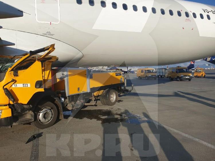 Пассажиров в кабине самолета в момент столкновения не было