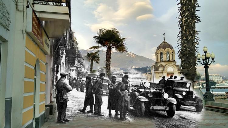 Военные заполонили курортный город. Фото: Валентин Вербицкий