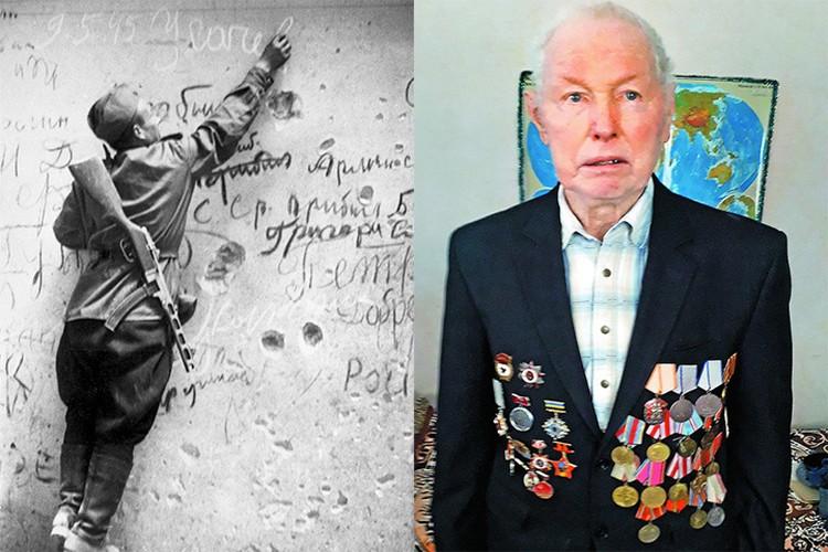 Семен Усачев в 1945 и сейчас. Фото: rg.ru