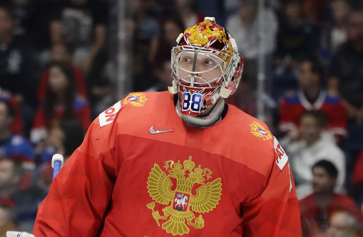 Вратарь сборной России Андрей Василевский.