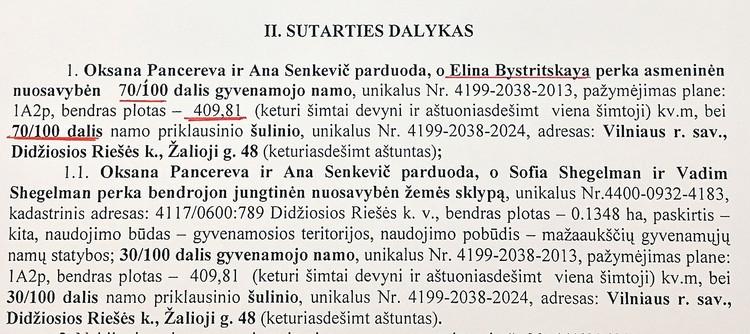 Когда Быстрицкая купила дом в пригороде Вильнюса, ей принадлежали 70 процентов доли. Потом, по словам окружения актрисы, сестра артистки София переписала ее долю на своих родных.