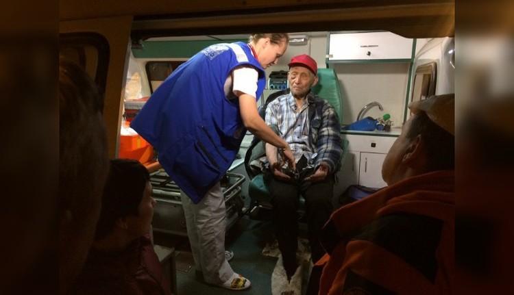 Дедушке оказали помощь уже на месте