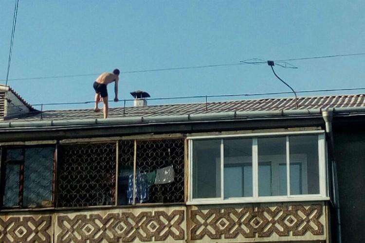 """Еще один опасный шаг. Фото: группа """"Непростой Ангарск"""" ВКонтакте"""