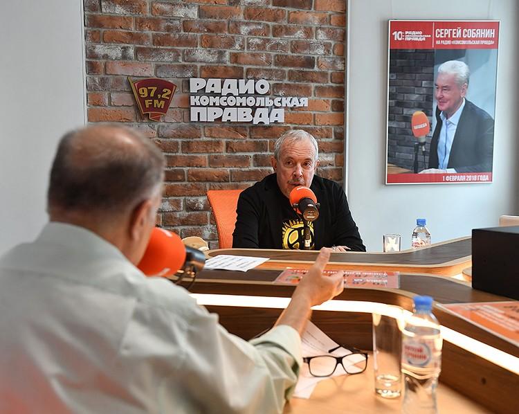 Андрей Макаревич в прямом эфире