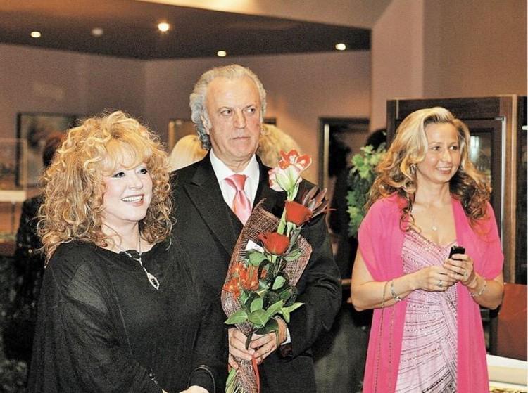 Алла Пугачева, Илья Резник с супругой Ириной