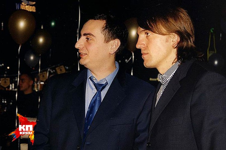 Челентано рядом с бывший вице-мэром Новосибирска Александром Солодкиным-младшим.