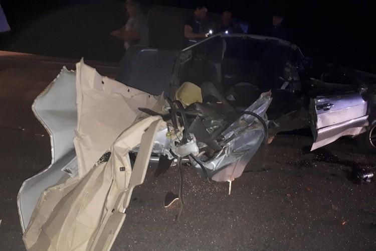 Машина превратилась в груду металла. Фото: Управление ГИБДД по Челябинской области