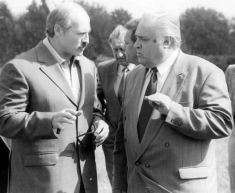 Александр Лукашенко и Александр Дубко. Фото: sb.by / 2000г.