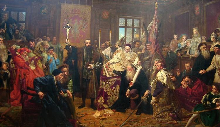 Художник Ян Матейко, картина «Люблинская уния», 1869 год.