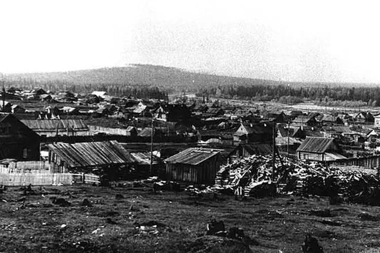 Таким был поселок Вижай в 1950-е годы, сейчас там практически нет домов.