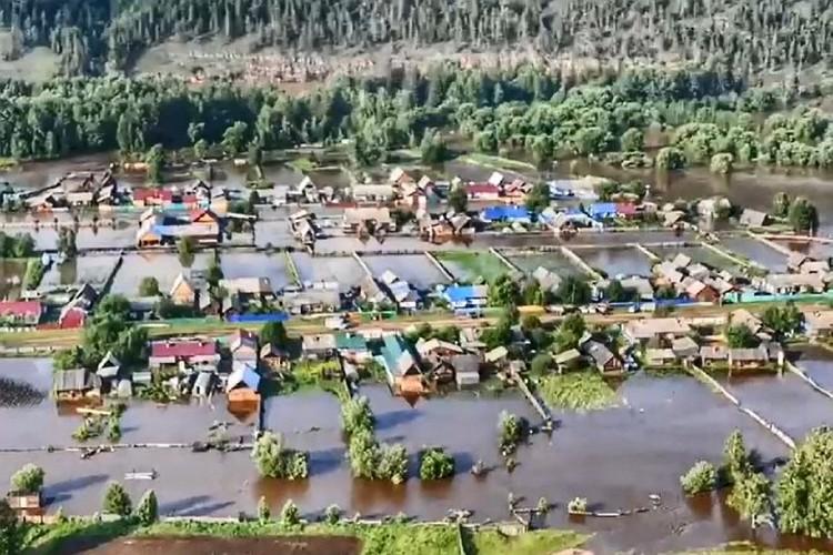 Подтопленный поселок Соляная