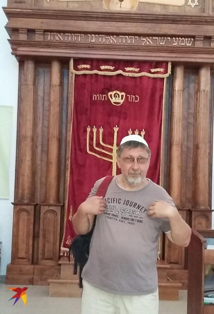 """Шалом! Это я, гуляя по туристическому маршруту """"Маленький Иерусалим"""" в Евпатории, зашел в синагогу ремесленников """"Егия-Капай"""". Счас """"Семь-сорок"""" спою..."""