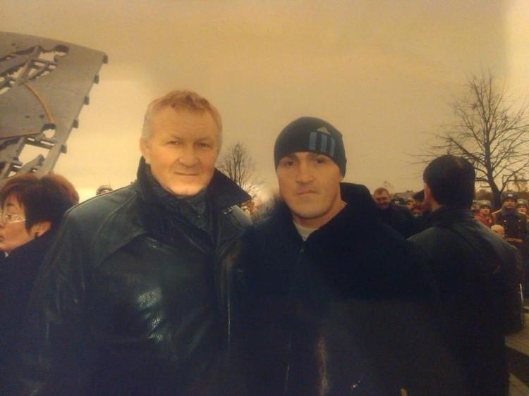 Валерий Дербин и боксер Алексей Лебедев