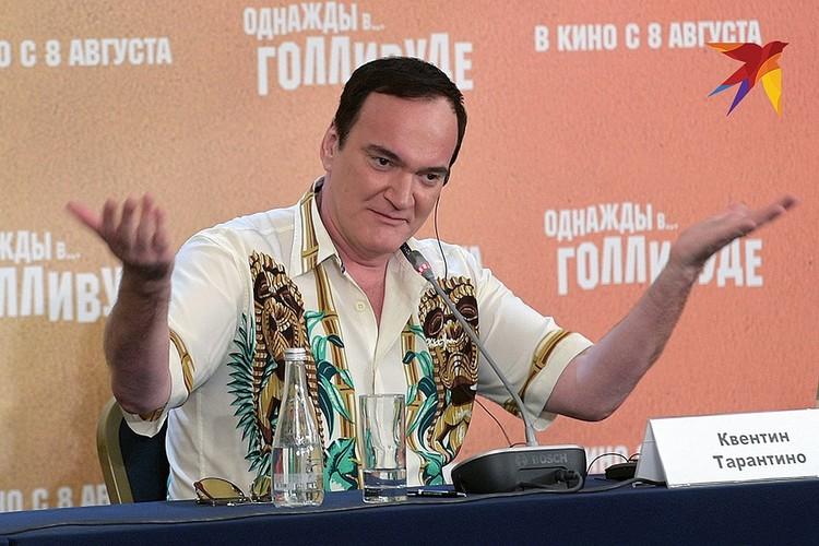 Режиссер на пресс-конференции в Москве.