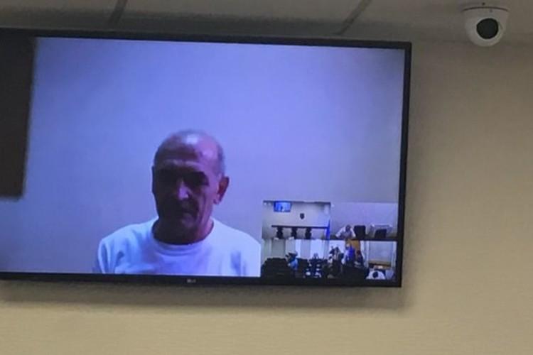 Владимир Цемах дал показания в Апелляционном суде Киева в формате видеоконференции. Фото: strana.ua