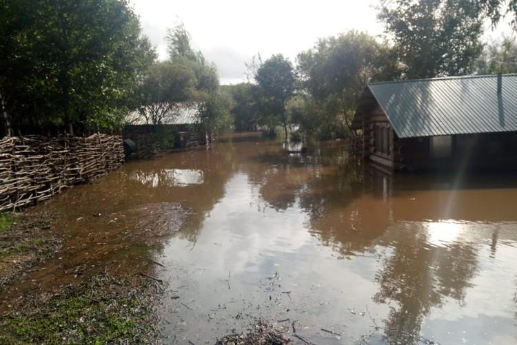 Сам парк практически полностью ушел под воду. Фото: предоставлено героем публикации.