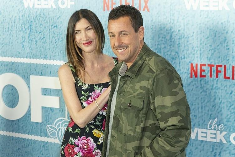 Адам Сэндлер с женой Джеки.