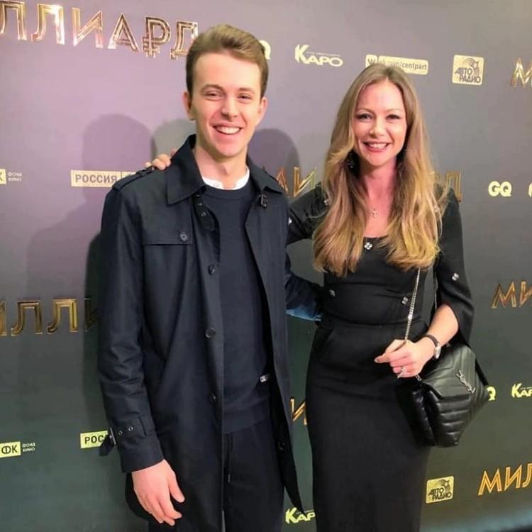 Мария Миронова с сыном Андреем Мироновым-Удаловым. Фото: instagram.com/mariya_mironova_actress/