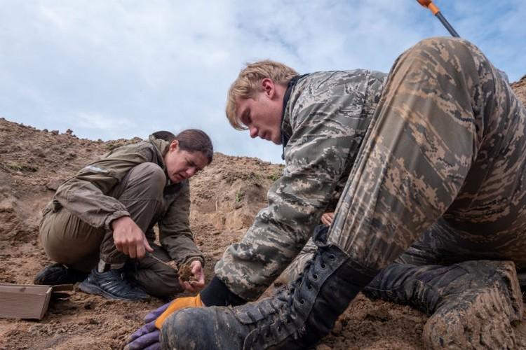 Раскопки велись на местах кровопролитных сражений Фото: поисковый отряд «Сталкер»