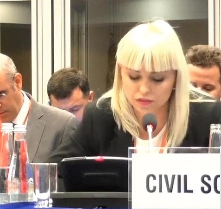 Анастасия Гридчина выступила с докладом