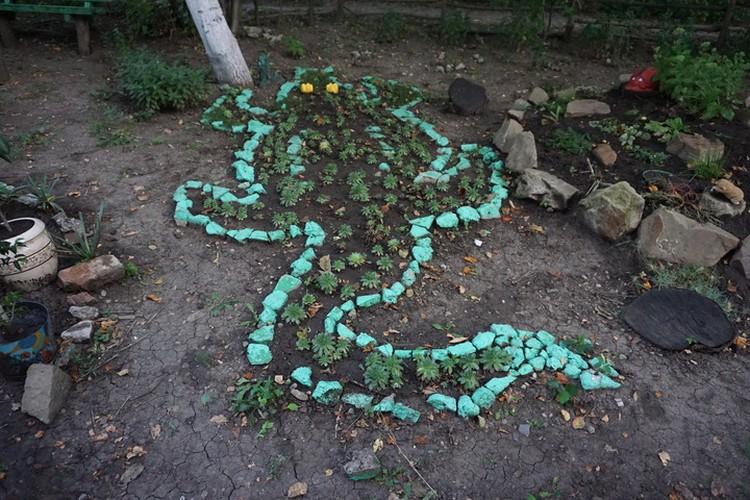 Жители Церетели, 14 создали в своем дворе сказку.