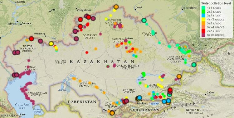 Мониторинг качества поверхностных вод Республики Казахстан.