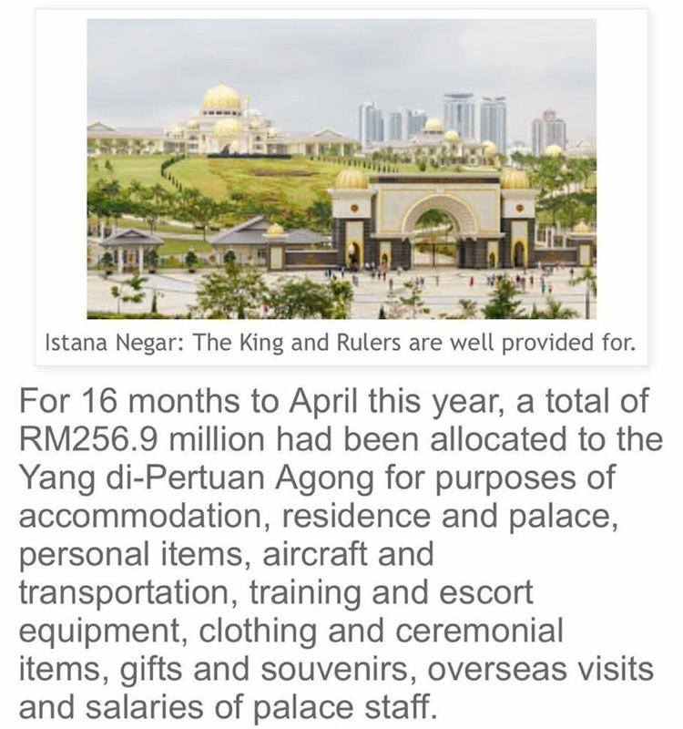 О роскошных тратах дворца писали в малазийской прессе.