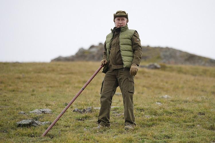 В свой день рождения Владимир Путин традиционно отправляется в сибирские горы. Фото: Алексей Дружинин/ТАСС