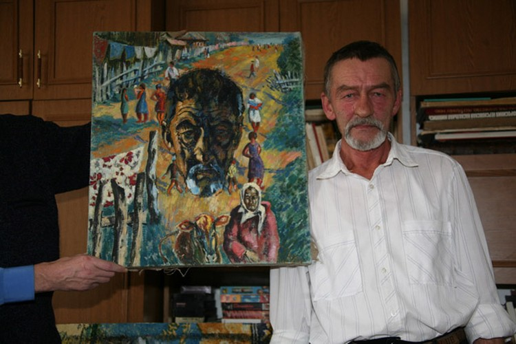 Александр Суханов живой и на картине.