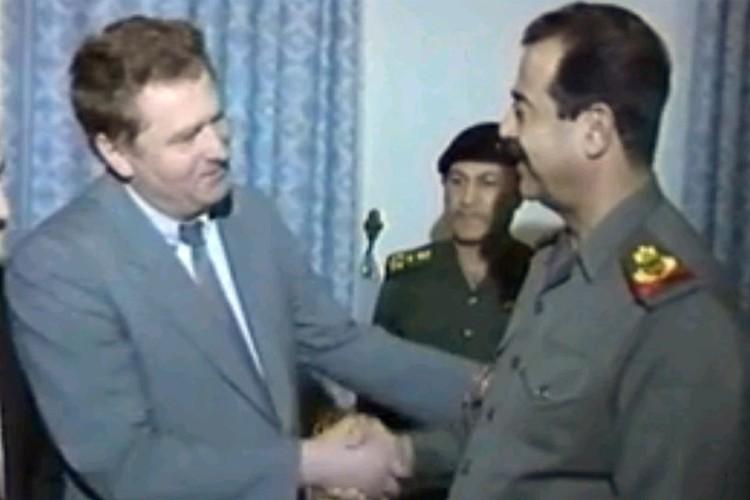 Владимир Жириновский и Саддам Хусейн в 1993 году.