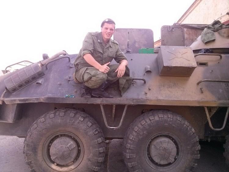 Сергей Шмелев служил в армии в 2014 году. Фото: соцсети