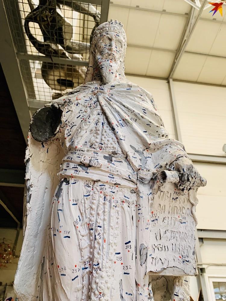 Макет скульптуры с разметкой.