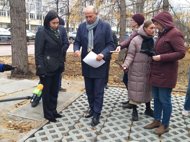 Новое пространство проспекта Ленина – это еще и оригинальная плитка.