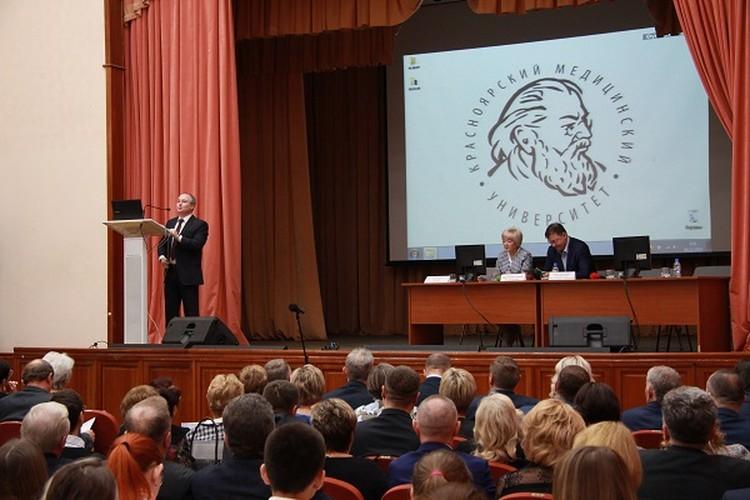 Перед студентами выступил министр здравоохранения края Борис Немик Фото: kraszdrav.ru