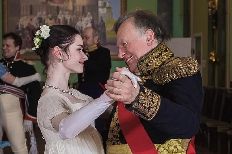 Анастасия с преподавателем Олегом Соколовым