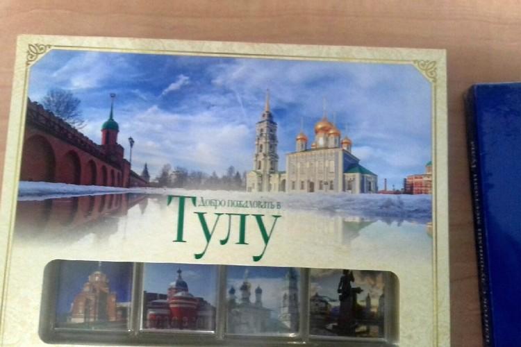 Коробки с касимовскими сладостями продавались в тульском магазине. Фото предоставлено Евгением Черниковым.
