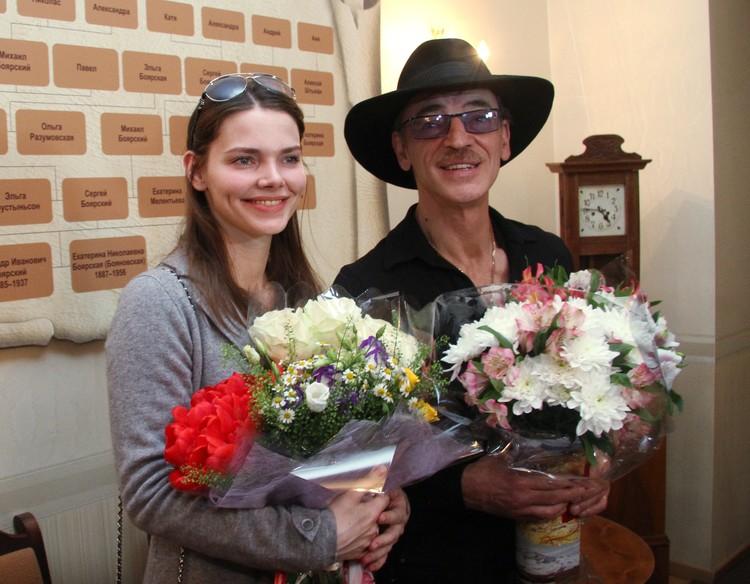 Михаил Боярский с дочерью Лизой.