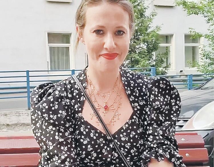 Ксения Собчак и колье за 1 млн руб. Фото: instagram.com/xenia_sobchak